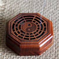 Wholesale chinese style Rose wood incense burner decoration stove santalwood burner incense box wood air fresher