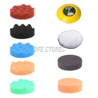Wholesale 9Pcs quot Waffle Polishing Pad Buffer Pad Buffing pad Kit For Car Polisher quot