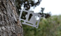 Wholesale 1 Camping Multipurpose tool Multifunction Card Knife Pocket Survival Tool Outdoor Survivin knife Life card knife