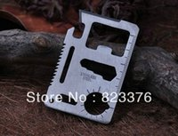 Wholesale DHL Large Size functions in Multifunction Tool Pocket saber Card Outdoor Camping Survival Knife