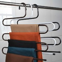 Wholesale Brand New Magic Multifunction Practical Convenient Layers Tie Towels Belt Trousers Pants Closet Hanger Racks