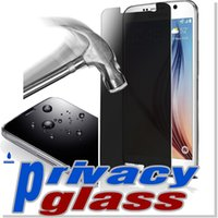 anti glare glasses - Iphone Privacy Tempered Glass Note Screen Protector For Galaxy S6 Iphone Anti Spy Peeping With Retail Package DHL