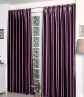 Wholesale Satin Blackout Curtains Thick Shade Sunshade Blackout Cloth Living Room Bedroom Great Quality Curtains by Meow