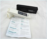 Wholesale 100PCS free shiping by Fedex TDS or EMS Tester EC meter water measurement tool Function in ppm High Quality