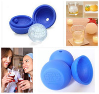 Wholesale DIY Star Wars Silicone Death Star Ice Tray Makes Death Star Round Ice Ball Mold Silicone Chocolate Mold R1405