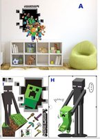 Wholesale 9 Style D Window Minecraft Wall Stickers for Kids Nursey Home Decoration Steve Lake Decorative Wall Decals for Boys Wall Art Paper