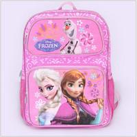 Wholesale AAA quality color kid girl boy frozen handbag leisure one shoulder Inclined school bag backpack christmas birthday gift topB1348