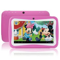 Wholesale New Child s Gift Toy quot children Educational Android Tablet PC RK3026 Dual Core A8 M GB GHz Dual Camera WiFi G Kids Tablet PC
