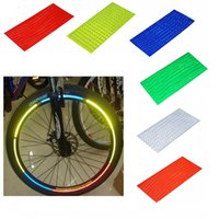 Wholesale B014 Fluorescent MTB Bike Bicycle Motorcycle Wheel Tire Tyre Reflective Stickers Strip Decal Tape Safety Silver Fashion