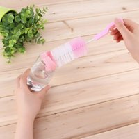 Wholesale 1pcs High Quality New Degree Sponge Cleaner Baby Nipple Bottle Brush with Pacifier Brush