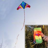 kite fabric - High quality m rainbow kite tails ripstop nylon fabric kite weifang kite factory hcxkite windsocks