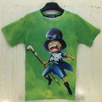 baseball band shirt - 2016 Summer Piece One Neck Hip Hop Band Baseball Tees T Shirt Men Brand Design Clothes Games Hip Hop Streetwear Shirt