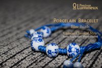 Wholesale Lumineux Porcelain Bracelet Ceramic Jewelry Female Bead Pearl Fashion Chinese Jingdezhen Classical National Art Craft Handmade