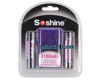 Wholesale 2pcs High Quality Capacity Soshine Li ion Protected Battery V mAh Tactical Durable Safe Flashlight Battery order lt no tra