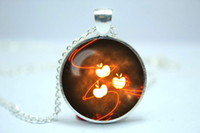applejack pony - 10pcs My Little Pony Friendship is Magic Applejack blazing flame Cutie Mark Inspired glass cabochon dome Pendant Necklace