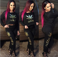 jogging suits - Women ADIOS Letter Gold Print Tracksuit Set Sports Suit Casual Sweatshirts Sexy Club Tracksuits Ladies Sport Jogging Suits new style free sh