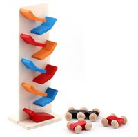 baby traditions - Race Car Drop Baby Kids Child Wooden Educational Toy Classic Tradition Game