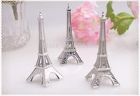 Wholesale Wedding Party Decoration quot Evening in Paris quot Eiffel Tower Silver Finish Place Card Holder wedding supplies Factory outlets