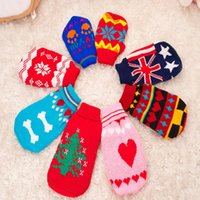 Wholesale pet dog sweater for autumn winter warm knitting crochet clothes for dog chihuahua dachshunds pitbull