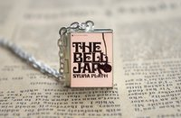 bell jar - 12pcs The Bell Jar Book Locket Necklace silver toneAZA