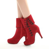 red bottoms heels - New Women Suede Ankle Boots Red Bottom High Heels Ankle Boots Autumn And Winter Warm Shoes Motorcycle Boots