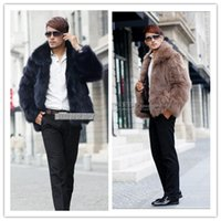 atmosphere outerwear - Fall Best selling New men fox fur coat winter outerwear Solid color Elegant atmosphere casual warm fur coats Plus Size S XL