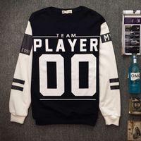 baseball team clothing - Team Player Pullover Golf Baseball Jacket Slim O Neck Men s Sportwear Clothes Autumn Outwear Tracksuits Mens Hoodies Sweatshirts