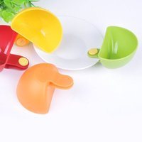 Wholesale 4Pcs Seasoning dish kitchen bowl tool Dip Clips Dip and Clip relish plate Pepper easy clean PJJ0270W
