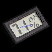Wholesale Electronic Pocket Embedded LCD Digital Temperature Tester Wireless Thermometer Hygrometer Temperature Humidity Meter Weather Station Indoor