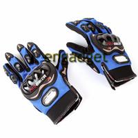 Nylon racing wear - Motorcycle Bicycle Bike Full Finger Gloves Motor Racing Nylon Finger Gloves Sports Wear Racing Equipment Red Blue Black