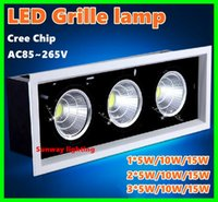 bay ceiling - X10PCS LED downlight Grille Lamps Grille lamp Double LED ceiling lamp Bay light w w w w w w w DHL