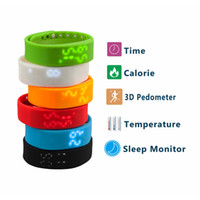 best digital pedometer - LED Digital Sports USB WristWatch Silicone Band Smart Watch For Kids Women Men Calorie D Pedometer Best Christmas Gift