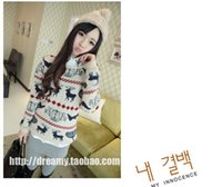 christmas jumpers - 2015 Best style New Pullover Women Ladies XMAS Thick Knitwear Christmas Reindeer Jumper Knitted Sweater Colors