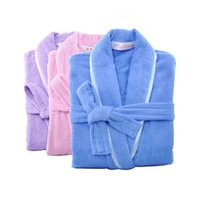 bath spa s - New Brand MMY BathRobe cm cm Unisex Bathrobe Cotton Solid Spa Bath robe Dressing Gown Brand Women Embroider Robe