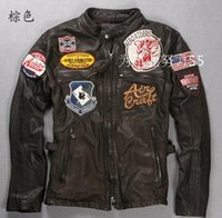 motorcycle leather jacket - 2015 Motorcycle Apparel AVIREX AERONAUTICS motorcycle jackets AVIREX branded cow leather jackets F1 Racing jackets