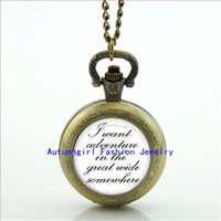 beauty stationary - Beauty and the Beast Pocket Watch I Want Adventure In The Great Wide Somewhere Locket necklace Pocket Watch Necklace WT