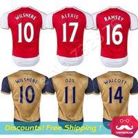 football wear - Top Quality Arsenal Jersey New ASL fc football shirts OZIL ALEXIS WALCOTT RAMSEY Soccer Jerseys Soccer Wear