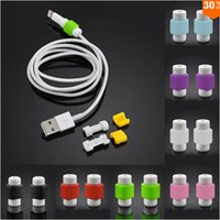 iphone 5 lightning cable - DHL USB Lightning Data Charger Cable Saver Protector For iPhone s S Plus ES ipad Headset Protection Earphone Wire Cord Protective