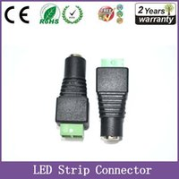 Wholesale Led Strip Connector DC V power adapter to led single color strip Female Connector wire Rohs one year warranty