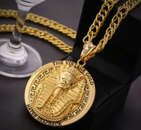 hip hop chain - 2015 New Hip Hop Pendant Necklace With Corn Chain K Gold Plated Men Jewelry Egyptian Pharaoh Necklaces J185
