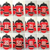 Wholesale CHI Blackhawk Ice Hockey Jersey Hoodies blank ORR Hull Sharp Toews Crawford Hossa Kane Classic Old Time Red Sweatshirt