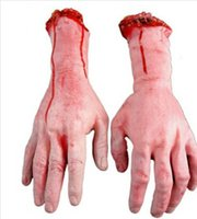 Wholesale Zombie Terror pc Severed Scary Cut Off Bloody Fake Latex Lifesize Arm Hand Halloween Prop Hot