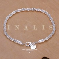 Wholesale women fashion sterling silver plated Twisted Line Bracelet bracelet