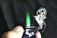 Wholesale creative Cigarette Lighters Portable Cigarette Flameless Lighter Wind Proof Smoking lighter Motorcycle style lighter