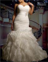Sweetheart wedding dress ribbon - New Custom Plus Size Sexy Sweetheart Strapless Beautifully Organza Mermaid Wedding Dress Bridal Gown Plus Size Wedding Dresses