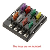 Wholesale High Quality Way Circuit Car Fuse Box V DC Blade Car Fuse Box Block A Auto Car Fuse Holder Boat Waterproof Dustproof