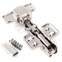 Wholesale Kitchen mm Cup Full overlay Close Satin Nickel Cabinet Cupboard Closet Door Hinge Damper Hardware with Screw