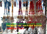 Wholesale 100pcs Calabash Car Perfume Hanging Bottle Fashion Cars Air Freshener Hangings Cleaner Accessory Crstal Purifier Ornaments