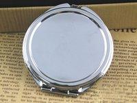 Round pocket mirror - Silver floral embossed compact mirror mm Blank Plain Silver pocket mirror For DIY Decoden M0832