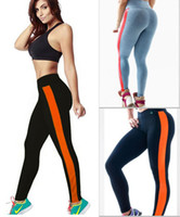 Wholesale 2015 Women Sports Pants Elastic Cotton Legging for Yoga Fitness Gym New Athletic Slim Shaper Bottoms Patchwork Tights Casual L109